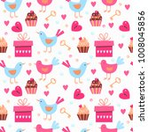 vector seamless pattern with... | Shutterstock .eps vector #1008045856