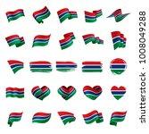 gambia flag  vector illustration | Shutterstock .eps vector #1008049288