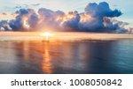sunrise over the ocean  | Shutterstock . vector #1008050842