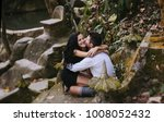 a girl in a black dress and a...   Shutterstock . vector #1008052432