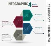 infographic four steps banner...   Shutterstock .eps vector #1008055672