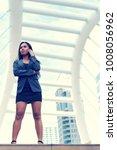 businesswoman holding...   Shutterstock . vector #1008056962