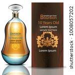 bourbon bottle vector realistic.... | Shutterstock .eps vector #1008057202