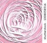rose pink abstract 3d spiral... | Shutterstock .eps vector #1008058516
