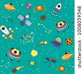 space seamless pattern with... | Shutterstock .eps vector #1008059548