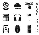 promising device icons set.... | Shutterstock .eps vector #1008065332