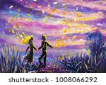 original painting abstract man... | Shutterstock . vector #1008066292