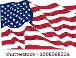 stars striped waving flag usa... | Shutterstock . vector #1008068326