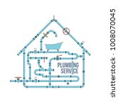 elements of a plumbing. pipes ... | Shutterstock .eps vector #1008070045