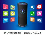 voice control user interface... | Shutterstock .eps vector #1008071125