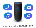 voice control user interface... | Shutterstock .eps vector #1008071128