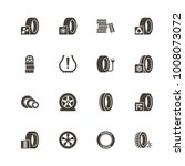 tires icons. perfect black... | Shutterstock .eps vector #1008073072