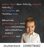 cute little girl in elementary... | Shutterstock . vector #1008078682
