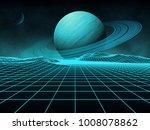 futuristic retro landscape of...   Shutterstock .eps vector #1008078862