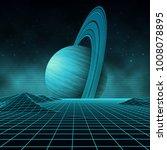 futuristic retro landscape of... | Shutterstock .eps vector #1008078895