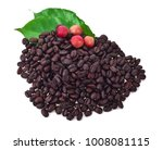 coffee beans and ripe coffee... | Shutterstock . vector #1008081115