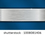 iron brushed metal texture on... | Shutterstock . vector #1008081406
