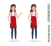 woman in cook character with... | Shutterstock .eps vector #1008082402