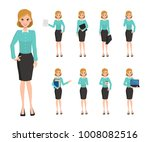 business woman character... | Shutterstock .eps vector #1008082516
