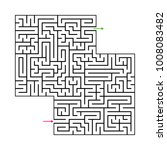 abstract maze labyrinth with...   Shutterstock .eps vector #1008083482