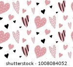 seamless pattern with pink...   Shutterstock .eps vector #1008084052