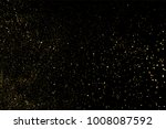gold glitter texture on a black ... | Shutterstock .eps vector #1008087592