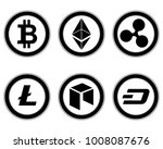 cryptocurrency set. bitcoin ... | Shutterstock .eps vector #1008087676