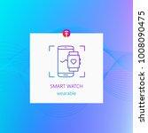 smart watch wearable gadget   Shutterstock .eps vector #1008090475
