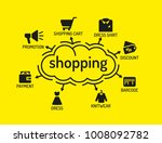 shopping chart with keywords... | Shutterstock .eps vector #1008092782
