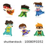 cartoon vector illustration set ... | Shutterstock .eps vector #1008093352