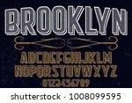 vintage font typeface... | Shutterstock .eps vector #1008099595