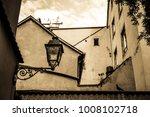 old  antique streetlamp  ... | Shutterstock . vector #1008102718