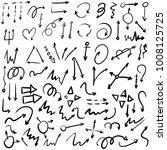 arrow doodles vector. a set of... | Shutterstock .eps vector #1008125725