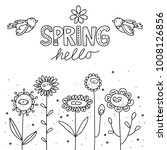 hello spring vector... | Shutterstock .eps vector #1008126856