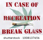 sign with marijuana cigarette... | Shutterstock . vector #1008137656