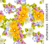 abstract background of flowers. ... | Shutterstock .eps vector #1008142495