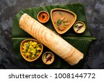 paper masala dosa is a south... | Shutterstock . vector #1008144772