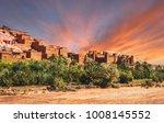 kasbah ait ben haddou in the... | Shutterstock . vector #1008145552