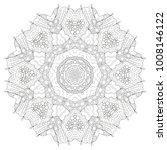 hand drawn zentangle circular... | Shutterstock .eps vector #1008146122