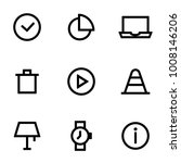 set of icons for simple flat...