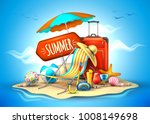 summer vacation  beach party... | Shutterstock .eps vector #1008149698