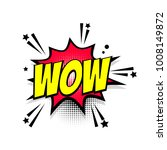 lettering wow boom star. comics ... | Shutterstock . vector #1008149872