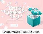 valentines day promo banner...   Shutterstock .eps vector #1008152236