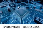 cpu chip on motherboard  ... | Shutterstock . vector #1008152356