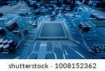 cpu chip on motherboard  ...   Shutterstock . vector #1008152362