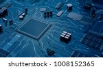 cpu chip on motherboard  ... | Shutterstock . vector #1008152365