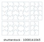 sets of puzzle pieces vector... | Shutterstock .eps vector #1008161065