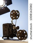 vintage projector with a... | Shutterstock . vector #1008162082
