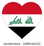 iraq flag in heart vector... | Shutterstock .eps vector #1008166222