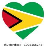 guyana flag in heart vector... | Shutterstock .eps vector #1008166246